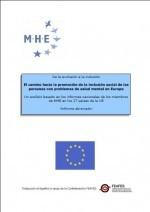 De la exclusión a la inclusión: el camino hacia la promoción de la inclusión social de las personas con problemas de salud mental en Europa