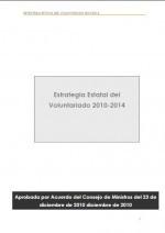 Portada Estrategia Estatal Voluntariado 2010-2014