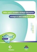Portada Estrategia salud mental CAPV