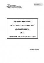 Informe sobre acceso a personas con discapacidad al empleo público en la Administración General del Estado