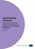 Salud mental y empleo: guía para profesionales sanitarios