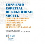 Convenio especial de seguridad social para trabajadores con discapacidad con especiales dificultades de inserción laboral
