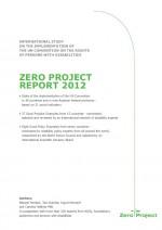 Portada Zero Project report 2012