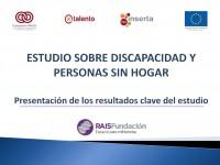 Estudio sobre discapacidad y personas sin hogar