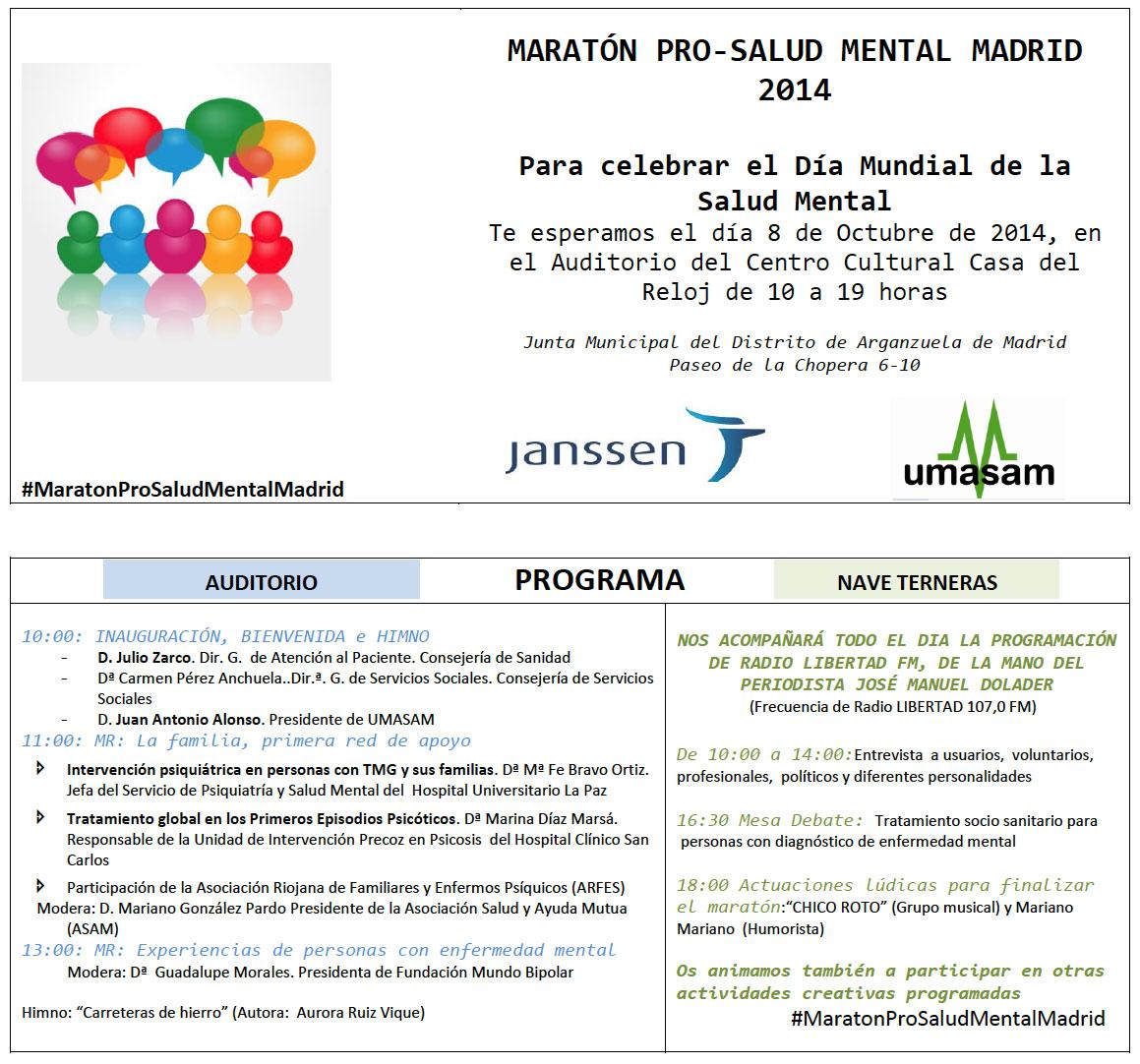 Día Mundial de Salud Mental 2014 de UMASAM
