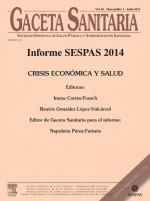 Crisis económica y salud mental: Informe SESPAS 2014