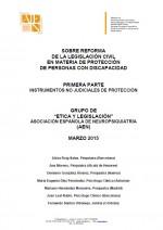 Sobre reforma de la legislación civil en materia de protección de personas con discapacidad
