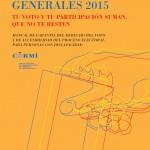Elecciones Generales derecho voto
