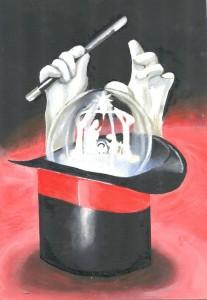 Magia de Manuel Risquez, ganador del premio de tarjetas de Navidad 2015