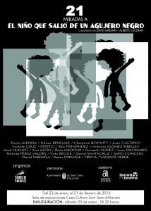 cartel exposición 21 miradas al Niño que salió de un agujero negro