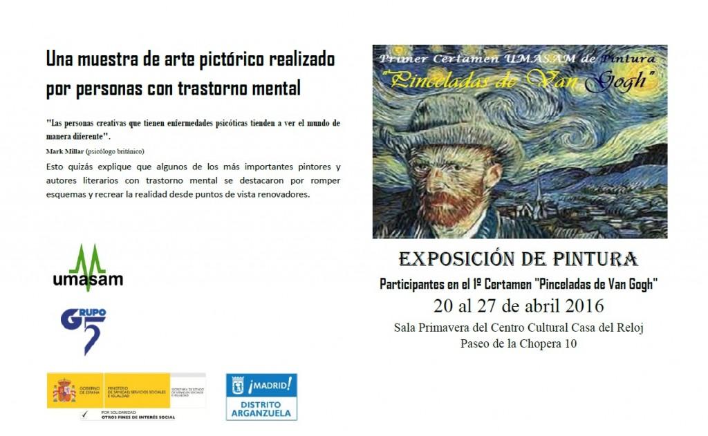 Cartela de la Exposición de pintura y salud mental de UMASAM