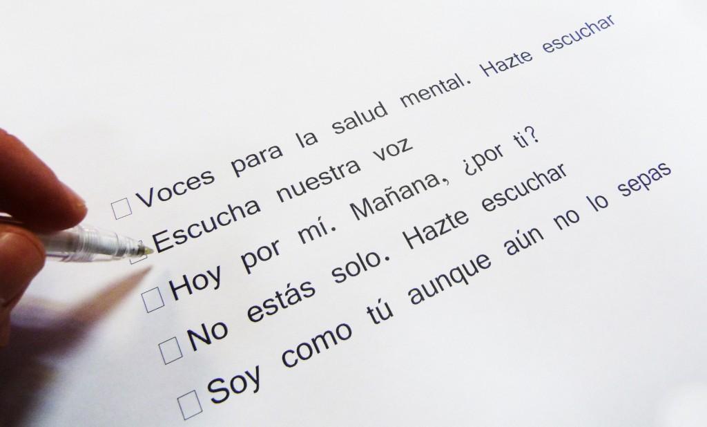 SALUD MENTAL ESPAÑA busca lema para el Día Mundial de la Salud Mental 2016