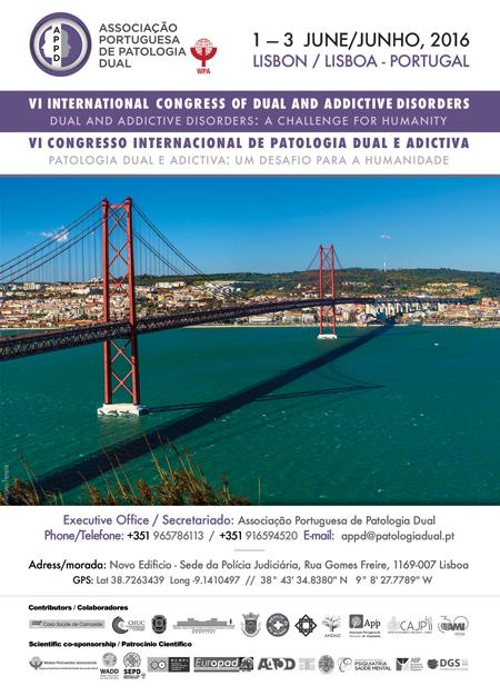 cartel congreso patología dual Portugal 2016