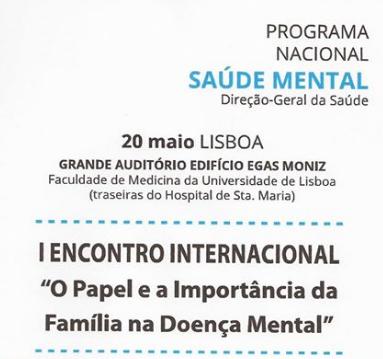 """I Encuentro Internacional """"El papel y la importancia de la familia en la Salud Mental"""""""