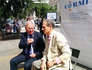 """Nel A. González Zapico, presidente de SALUD MENTAL ESPAÑA, entrevistado durante el acto """"Vota para que votemos"""""""