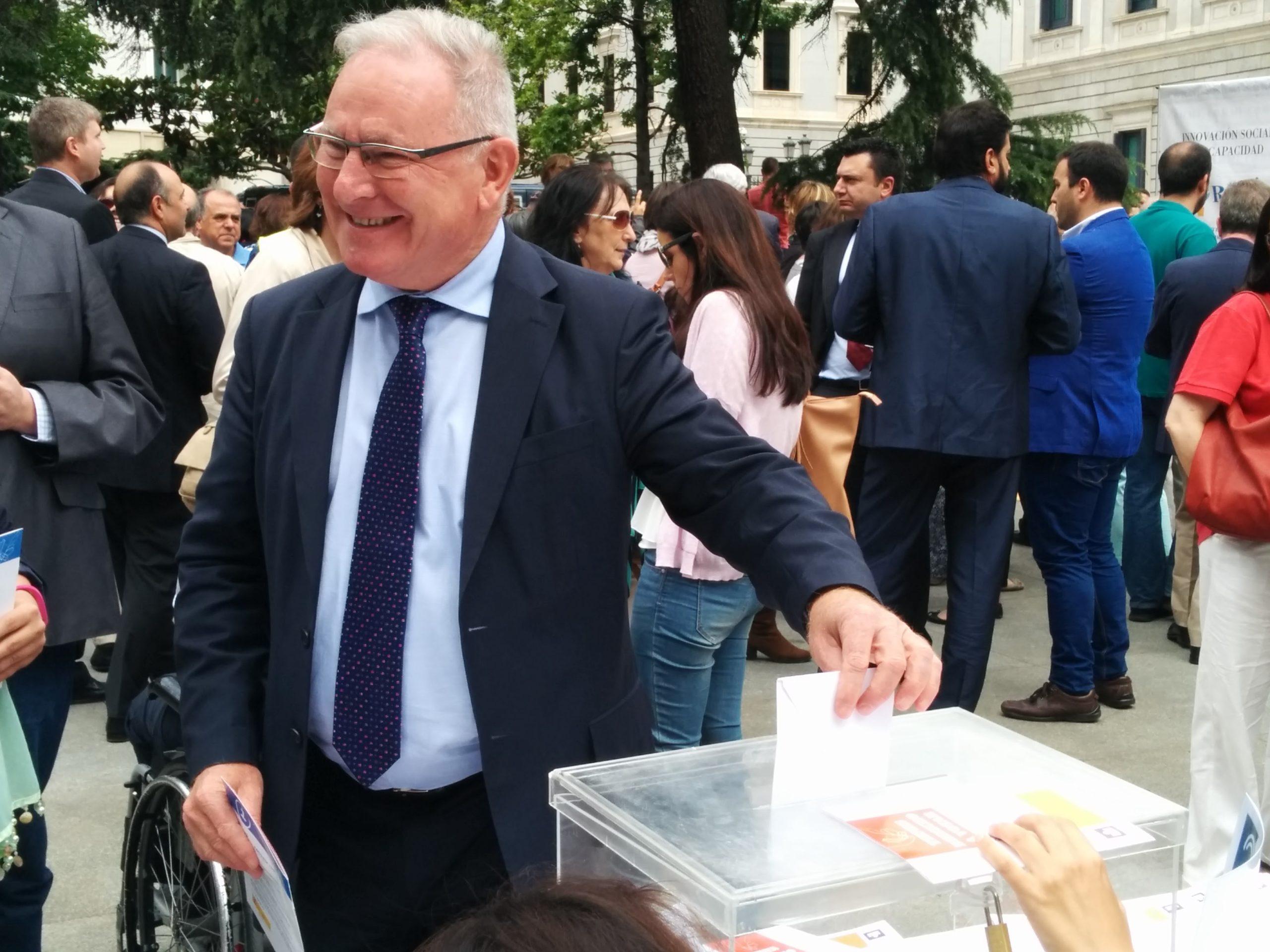 El presidente de SALUD MENTAL ESPAÑA en el acto Vota para que votemos