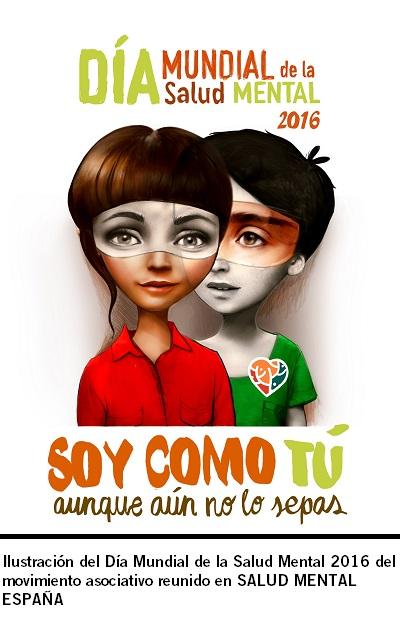 Ilustración DMSM16 del movimiento asociativo reunido en SALUD MENTAL ESPAÑA. Baja resolución