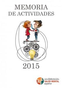 Portada Memoria SALUD MENTAL ESPAÑA 2015
