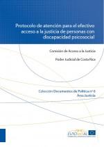 Portada Protocolo atención acceso justicia discapacidad psicosocial