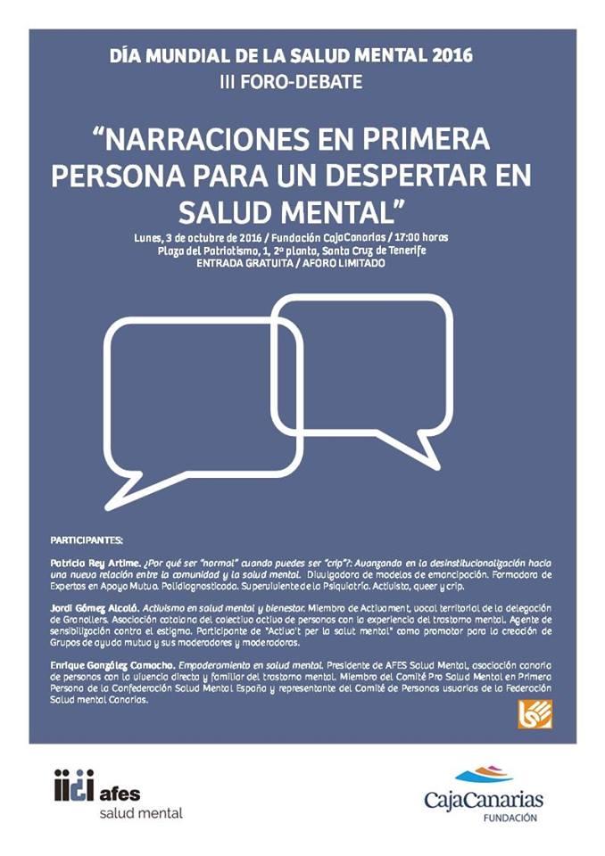 Narraciones en primera persona salud mental afes