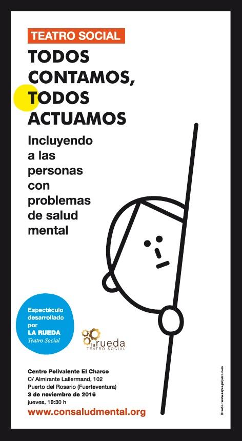 Cartel de 'Todos Contamos. Todos Actuamos' Fuerteventura