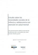 Estudio sobre las necesidades sociales de la infancia y adolescencia con atención en salud mental