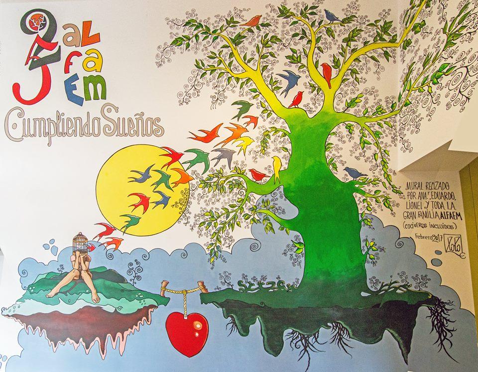 mural residencia alfaem