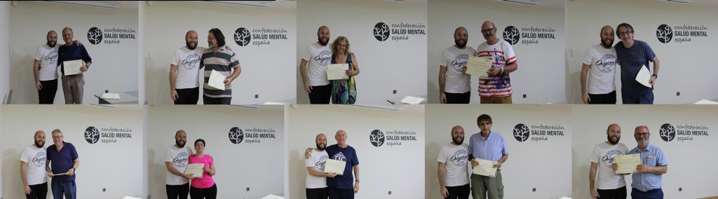 Entrega de diplomas de la formación en Salud Mental España para portavoces de UMASAM