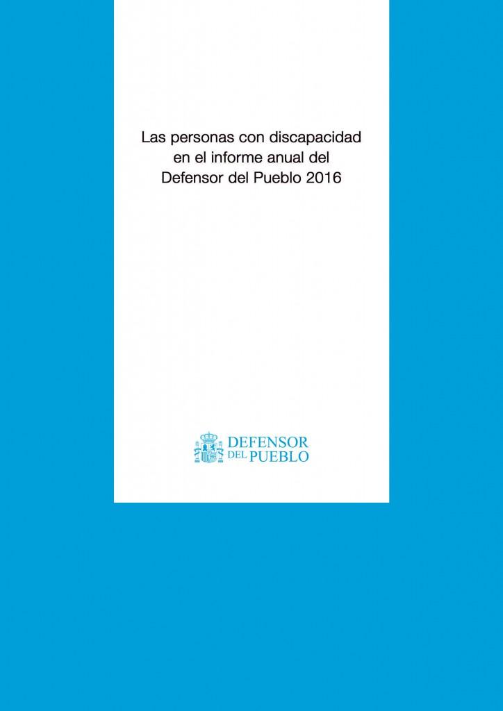 Portada Informe anual Defensor del Pueblo