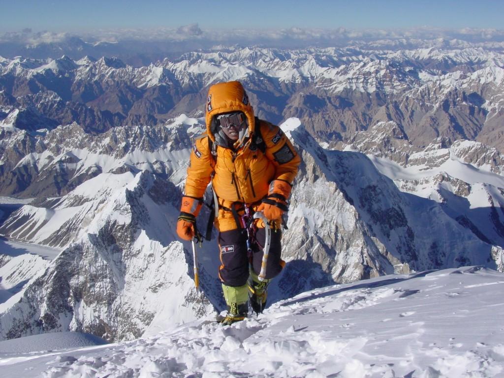 Edurne Pasaban en el K2