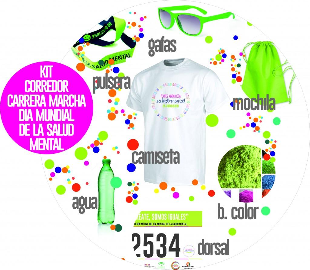 kit I Carrera Solidaria FEAFES Andalucía Salud Mental