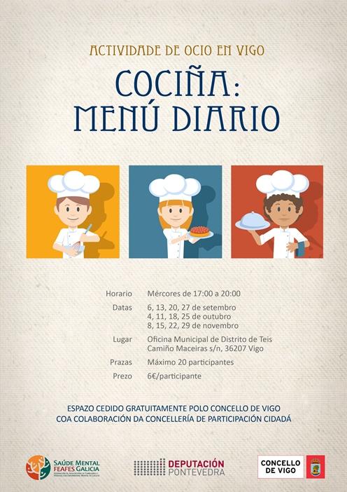 """Curso """"Cocina: menú diario"""""""