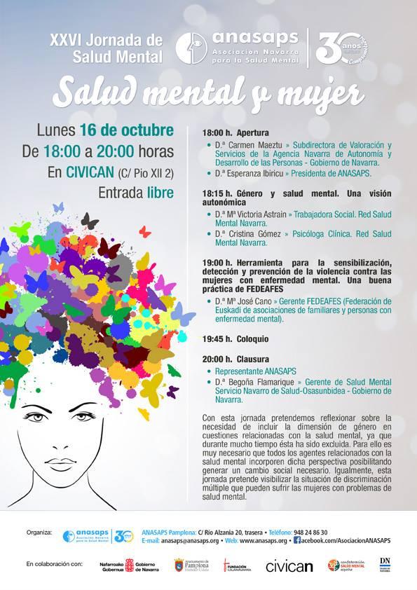 XXVI Jornada Salud Mental y Mujer de ANASAPS