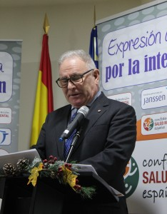 Nel A. González Zapico, presidente de SALUD MENTAL ESPAÑA, en el Acto de Navidad