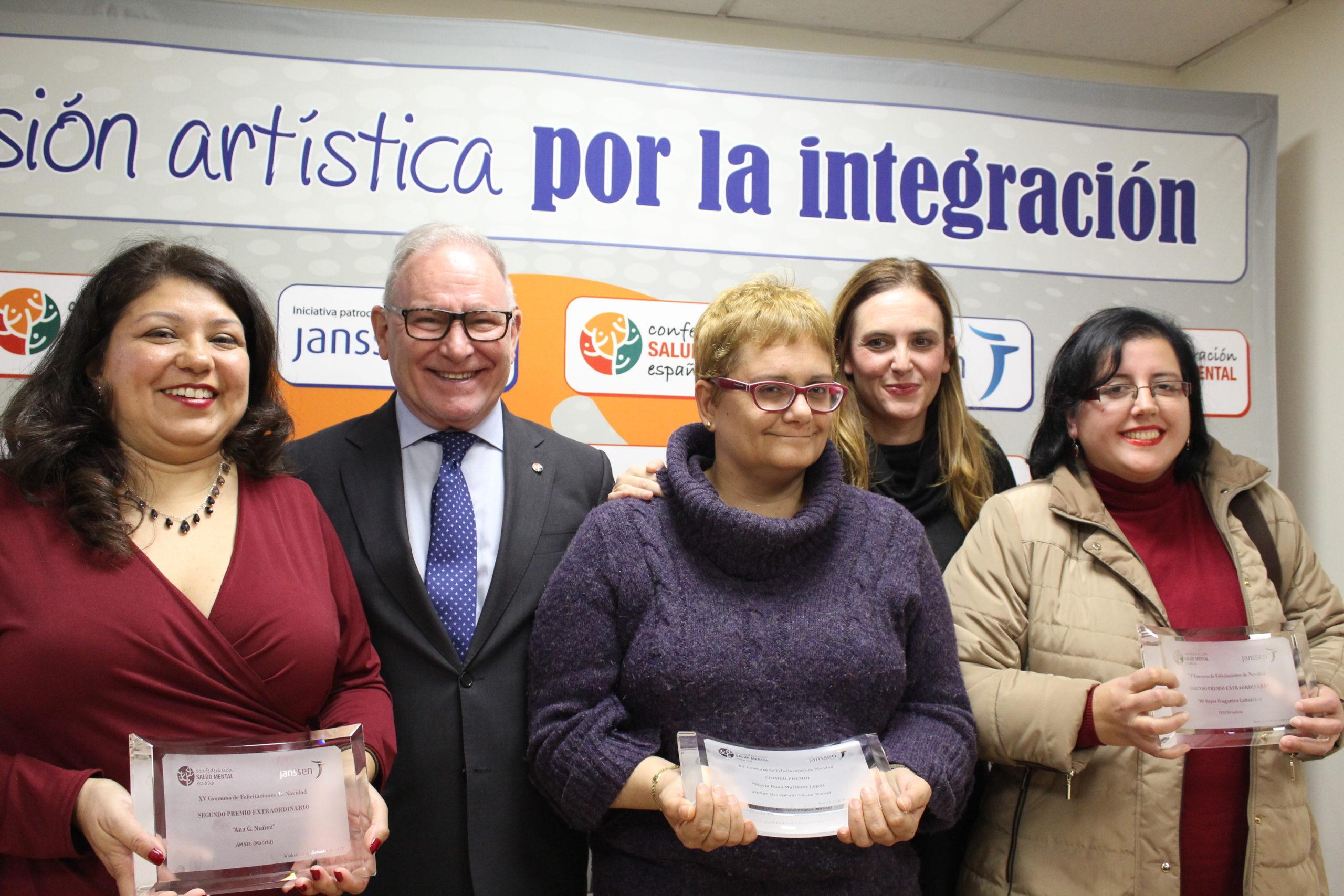 Las tres ganadoras del concurso de Navidad de SALUD MENTAL ESPAÑA 2017