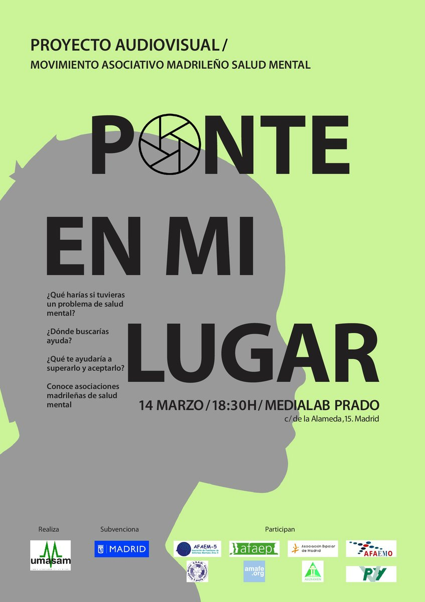 Proyección Ponte en mi lugar de UMASAM en Madrid