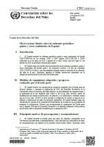 Observaciones finales sobre los informes periódicos quinto y sexto combinados de España