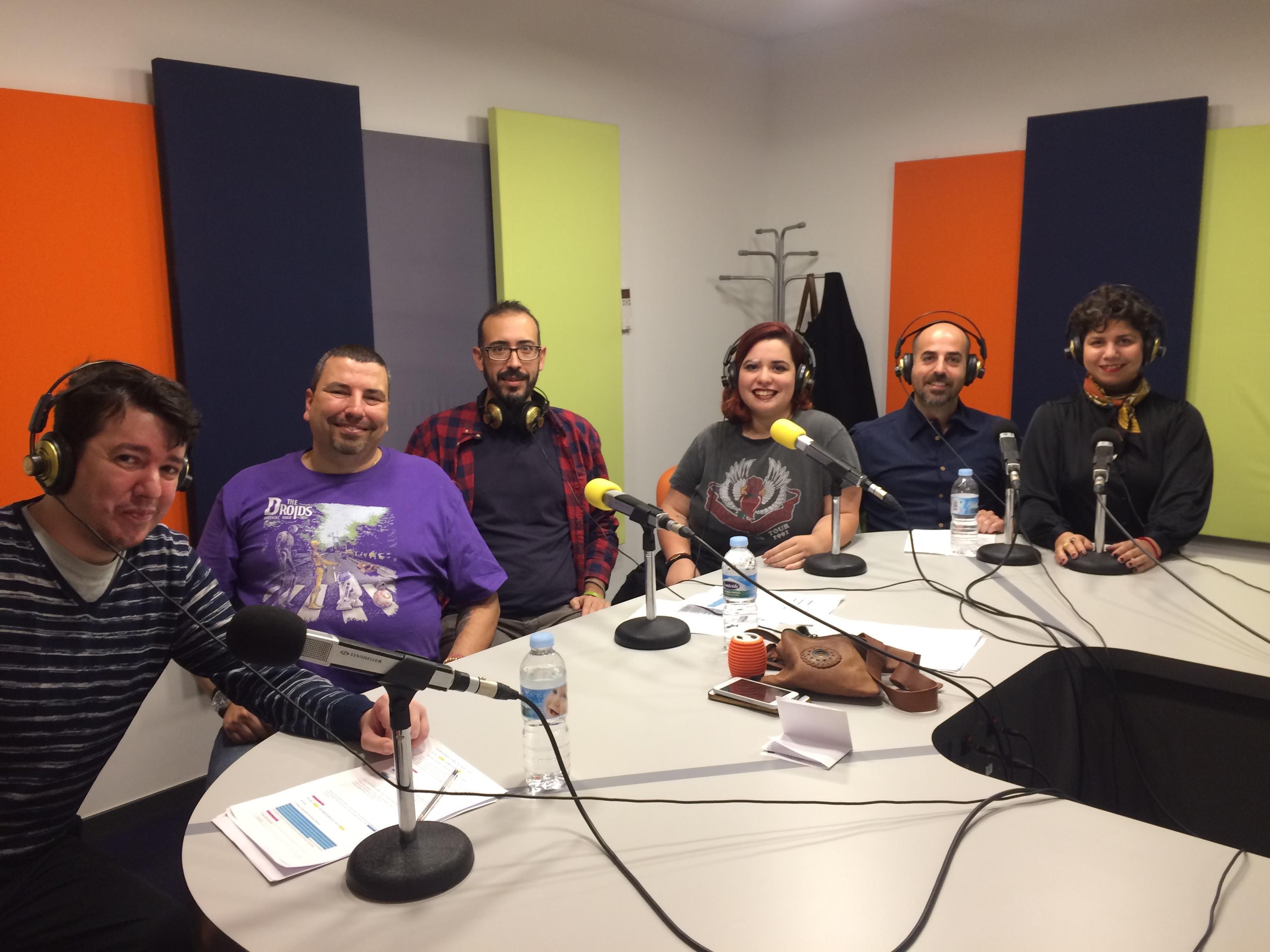 Pablo Vázquez, Jose Herrera, Enrique González, Cristina Mahelo, Javitxuela y Alejandra Galo