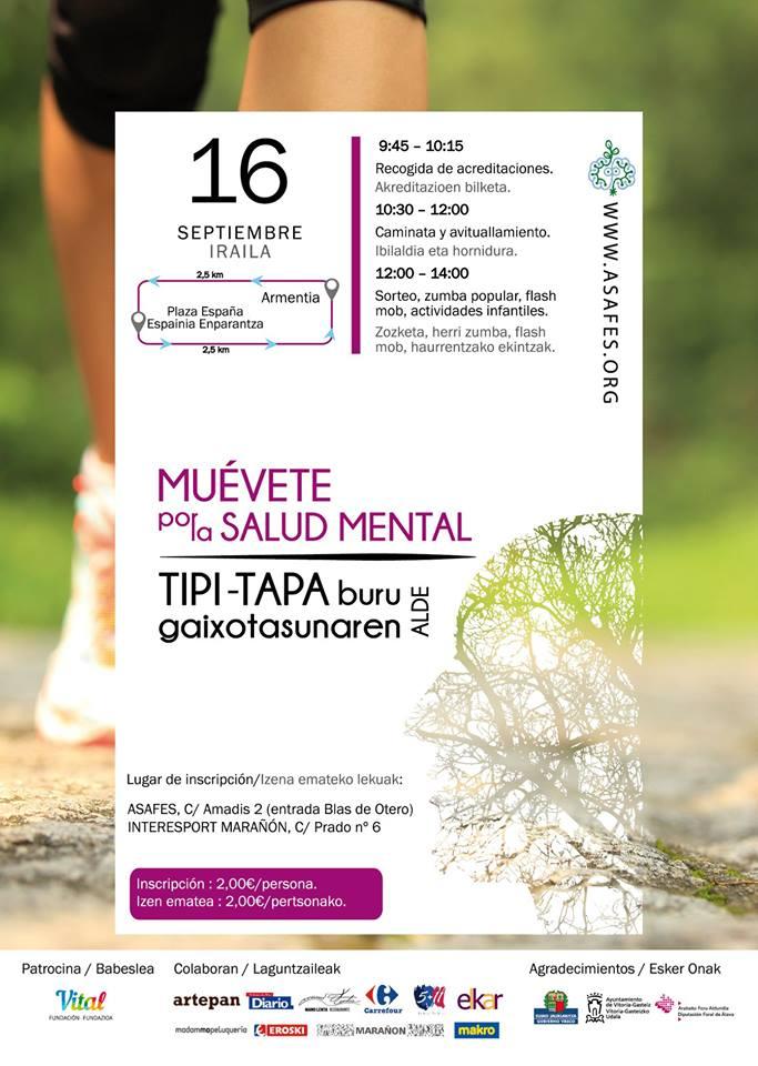 Muévete por la salud mental en Vitoria-Gasteiz