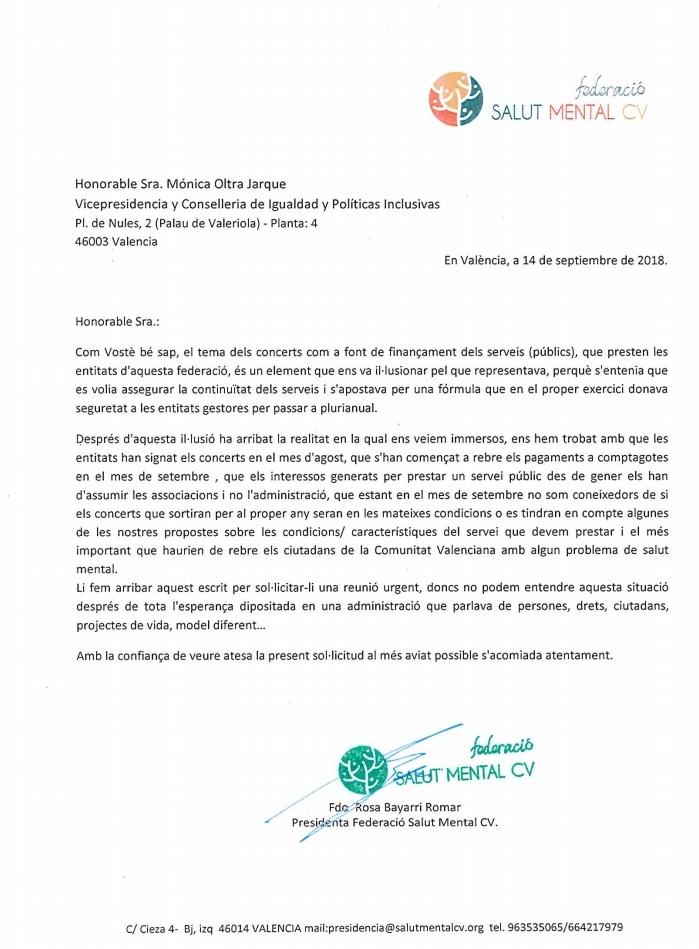 Carta Mónica Oltra