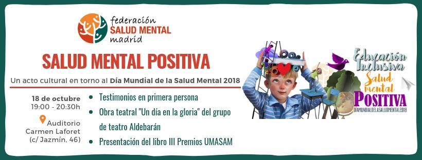 Acto Salud Mental Positiva Madrid