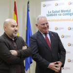 Luis Cayo Pérez Bueno, presidente del CERMI y Nel González Zapico, presidente de SALUD MENTAL ESPAÑA