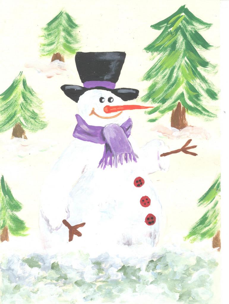 Muñeco nieve feliz - A MARIÑA