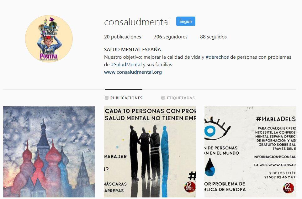 Instagram SALUD MENTAL ESPAÑA