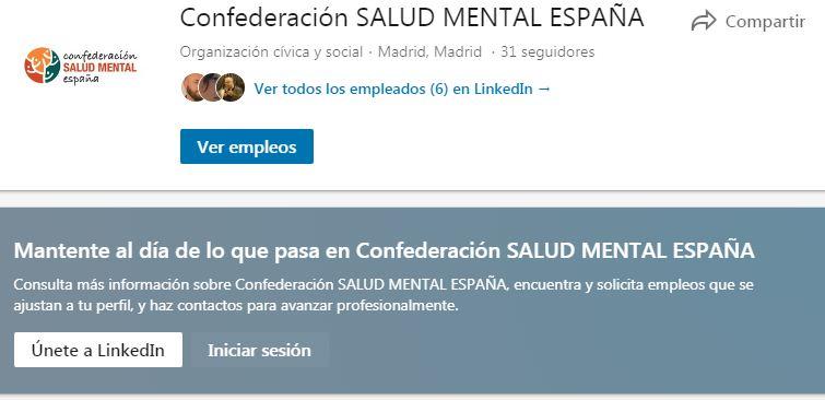 LinkedIn SALUD MENTAL ESPAÑA