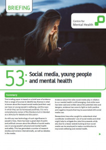 Social media, young people and mental health