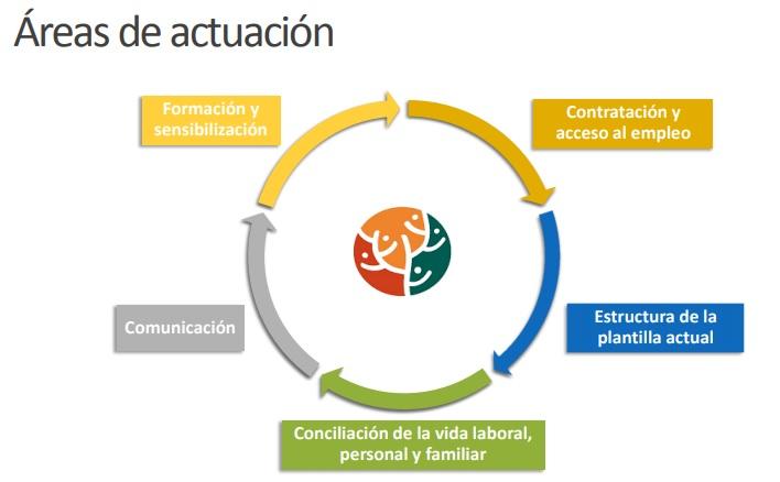 Areas de Actuación de la Comisión de Igualdad de ASCASAM