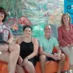 De izquierda a derecha Maite, Leticia, Luis y Rocío.