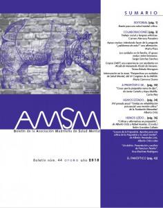 Boletín de la Asociación Madrileña de Salud Mental: otoño 2018