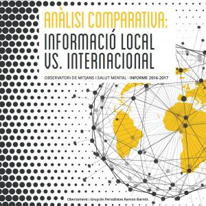 Anàlisi comparativa informació local vs internacional: Observatori de mitjans salut mental, informe 2016-2017